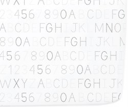 Petit Pehr - Crib Sheet - Monochrome Alphabet