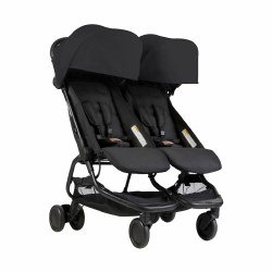 Phil & Teds - Mountain Buggy Nano Double Stroller - Black
