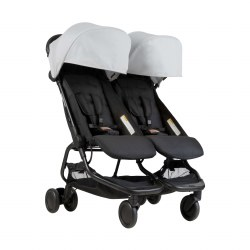 Phil & Teds - Mountain Buggy Nano Double Stroller - Silver