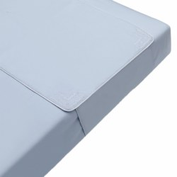 Pima Bedding - Crib Sheet Protector - Bleu Blue