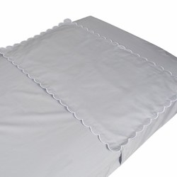 Pima Bedding - Crib Sheet Protector - Dream Grey