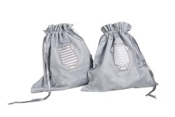 Pima Bedding - Travel Laundry Bag - Silver