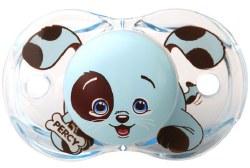 Raz Baby - Keep-It-Clean Pacifier - Blue Puppy