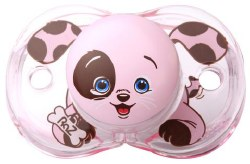 Raz Baby - Keep-It-Clean Pacifier - Pink Puppy
