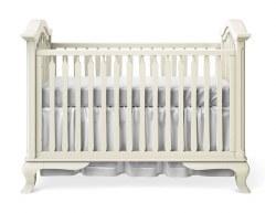 Romina Furniture - Cleopatra Classic Crib - Bianco Santinato *Floor Sample*