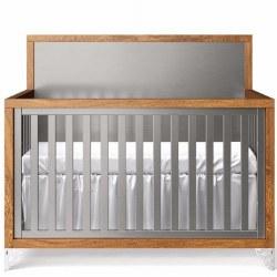 Romina Furniture - Pandora Convertible Crib - Oak/Argento *Floor Sample*