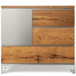 Romina Furniture - Pandora Single Dresser - Oak/Argento *Floor Sample*