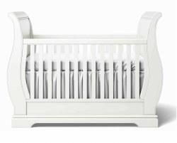 Romina Furniture - Venice Classic Crib - Argento Silver *Floor Sample*