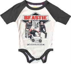 Rowdy Sprout - Raglan Short Sleeve Onesie - Beastie Boys 3-6M