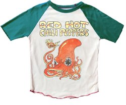 Rowdy Sprout - Raglan Short Sleeve Tee - Red Hot Chili Peppers 12-18M