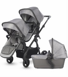 Silver Cross - Coast Double Stroller - Limenstone