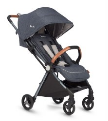 Silver Cross - Jet Ultra Compact Stroller - Special Edition Orkney Blue