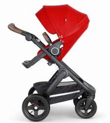 Stokke - 2018 Trailz Stroller Black Chassis with Brown Handle - Red