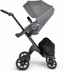 Stokke - Xplory V6 Stroller Black Chassis with Black Handle - Athleisure Green