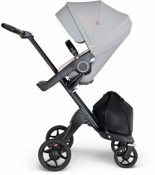 Stokke - Xplory V6 Stroller Black Chassis with Black Handle - Athleisure Pink