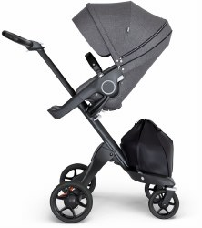 Stokke - Xplory V6 Stroller Black Chassis with Black Handle - Black Melange