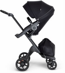 Stokke - Xplory V6 Stroller Black Chassis with Black Handle - Black