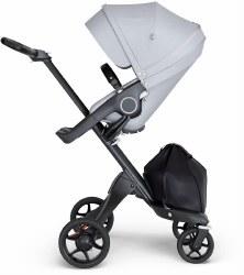 Stokke - Xplory V6 Stroller Black Chassis with Black Handle - Grey Melange
