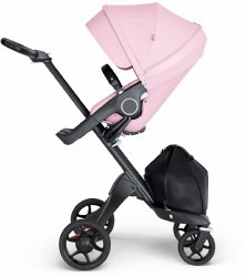 Stokke - Xplory V6 Stroller Black Chassis with Black Handle - Lotus Pink