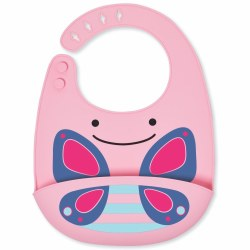 Skip Hop - Zoo Fold and Go Silicone Bib Butterfly