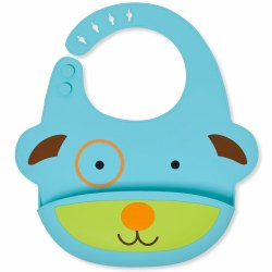 Skip Hop - Zoo Fold and Go Silicone Bib Dog