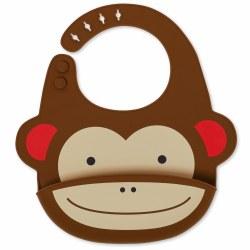 Skip Hop - Zoo Fold and Go Silicone Bib Monkey