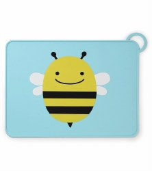Skip Hop - Zoo Fold & Go Silicone Placemat Bee