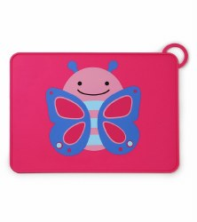 Skip Hop - Zoo Fold & Go Silicone Placemat Butterfly