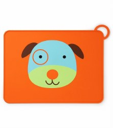 Skip Hop - Zoo Fold & Go Silicone Placemat Dog