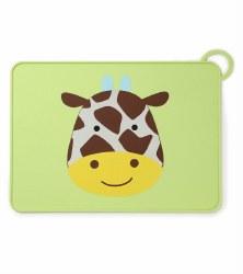 Skip Hop - Zoo Fold & Go Silicone Placemat Giraffe