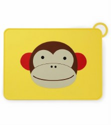 Skip Hop - Zoo Fold & Go Silicone Placemat Monkey