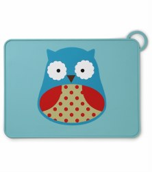Skip Hop - Zoo Fold & Go Silicone Placemat Owl