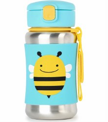 Skip Hop - Zoo Stainless Steel Straw Bottle Bee