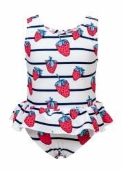 Snapper Rock - Skirt Swimsuit Strawberry 6-12