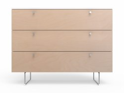 Spot On Square - Alto Dresser - 3 Drawer Birch/White 45""