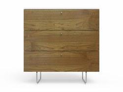 "Spot On Square - Alto Dresser - 3 Drawer Walnut/White 34"""