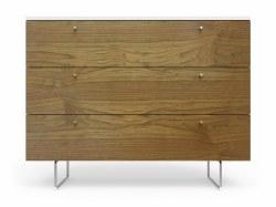 "Spot On Square - Alto Dresser - 3 Drawer Walnut/White 45"""