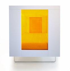 Spot On Square - Alto Crib - Tangerine Transparent Acrylic