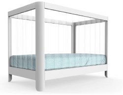 Spot On Square - Reverie Crib - White with Clear Acrylic