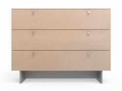 Spot On Square - Roh Dresser - 3 Drawer Birch/White 45""