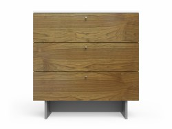 "Spot On Square - Roh Dresser - 3 Drawer Walnut/White 34"""