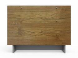 "Spot On Square - Roh Dresser - 3 Drawer Walnut/White 45"""