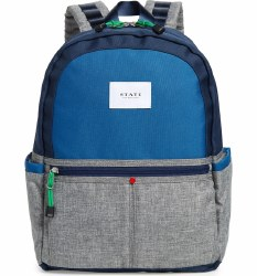 State Bags - Kane Backpack - Navy/Heather Grey