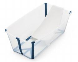 Stokke - Flexi Bath Tub Bundle With Newborn Support - Transparent Blue