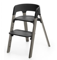 Stokke - Steps High Chair - Seat Black/Legs Hazy Grey