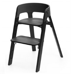 Stokke - Steps High Chair - Seat Black/Legs Oak Black