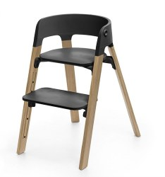 Stokke - Steps High Chair - Seat Black/Legs Oak Natural