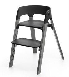 Stokke - Steps High Chair - Seat Black/Legs Storm Grey