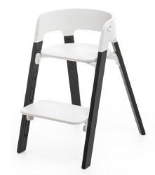 Stokke - Steps High Chair - Seat White/Legs Oak Black