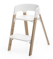 Stokke - Steps High Chair - Seat White/Legs Oak Natural